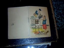 Calendrier Publicitaire Petit Format Thème Folklore Des Landes  1944 Bijouterie à La Renaissance Paris Bd. St.Martin - Calendriers
