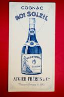 Buvard Cognac ROI SOLEIL, Augier Frères & C° - Liqueur & Bière
