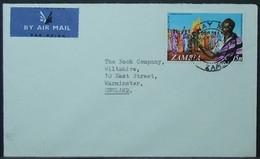 Zambia - Airmail Cover To England 1974 Kaunda 15n Solo Ridgeway - Zambia (1965-...)