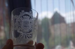 7.4 Glass Verre Glas Vetro Vidrio 19e Siècle XIXe  Gobelet  Exposition Universelle Paris 1889 Revolution Française 100 A - Vidrio & Cristal