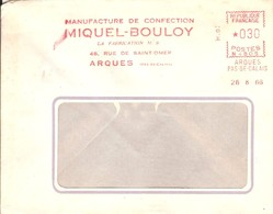 EMA FRANCE TEXTILE TEXTILIEN TEXTIL TRICOT MANUFACTURE CONFECTION MIQUEL-BOULOY MB SAINT OMER ARQUES PAS DE CALAIS 1966 - Textile