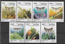 1989 MAURITANIE 616-22** Insectes, Parasites Des Cultures, Papillons - Mauretanien (1960-...)