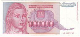 Yugoslavia P 126 - 1.000.000.000 Dinara 1993 - VF - Jugoslawien