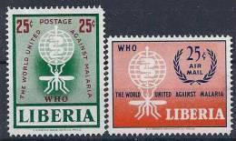 1962 LIBERIA 380+ PA 133** Paludisme - Liberia