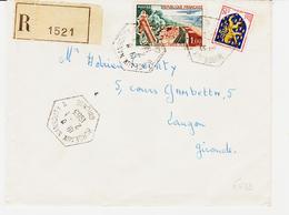 France, De Bordeaux Nansouty A ( Recette Auxiliaire Urbaine ) Recommandée ( Gironde ) En 1963  TB - Marcophilie (Lettres)