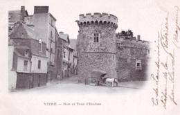 35 - Ille Et Vilaine -  VITRE -  Rue Et Tour D Embas - Attelage -  Carte Precurseur - Vitre