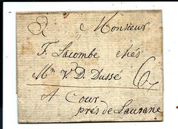 Lettre De 1809 - De LA PRISE Pour COUR (près De Lausanne) ARCHIVE LACOMBE - Suisse