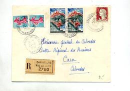Lettre Recommandée Cherbourg Sur Coty Flour Decaris - Marcophilie (Lettres)