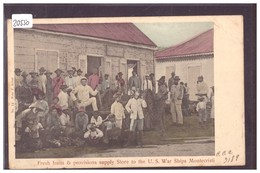 REP. DOMINICANA - MONTECRISTI - FRUITS & PROVISIONS STORE TO THE U.S. WAR SHIPS - B ( PLI D'ANGLE ) - Dominicaine (République)
