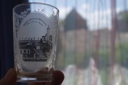 7.5 Glass Verre Glas Vetro Vidrio 19e Siècle XIXe Début 20e Gobelet Gersauch L'escalier Prison Verre Touristique Ancien - Vidrio & Cristal
