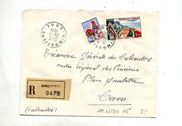 Lettre Recommandée Vimoutiers Sur Coq Touquet - Marcophilie (Lettres)