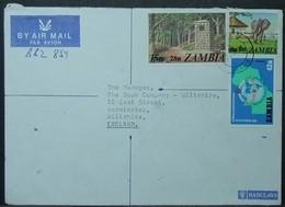 Zambia - Registered Cover To England 1980 Kasaba Bay Elephant Source Zambezi River Rotary Club Mufulira - Zambia (1965-...)