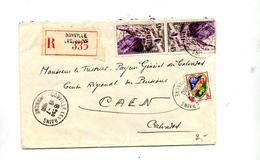 Lettre Recommandée Donville Les Bains  Sur Kerrata - Marcophilie (Lettres)