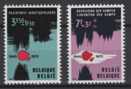 Belgique: 1970 :  COB N° 1539/40 **, MNH. - Ungebraucht