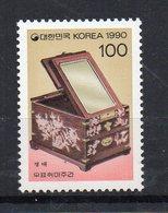 COREE DU SUD - SOUTH KOREA - 1990 - SEMAINE PHILATELIQUE - PHILATELICAL WEEK - COFFRET AVEC MIROIR - CASE WITH MIRROR - - Korea (Süd-)