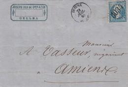 LETTRE. 21 JUIL 68. N° 22. ALGERIE. GUELMA GC 5034. POUR AMIENS - Marcophilie (Lettres)