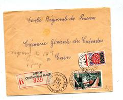 Lettre Recommandée Agon Sur Rance - Marcophilie (Lettres)