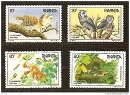 Rwanda Ruanda 1985 Yvert 1182-1185 OBCn° 1245-48 *** MNH  Cote 27,50 Euro Faune Oiseaux Vogels Birds - Ruanda
