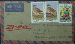 Zambia - Cover To Jersey 1991 Bird Rotary Food Baby Soya Beans - Zambia (1965-...)