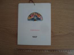 CALENDRIER ITALIEN 1957 VENTAGLI EVENTAIL - Calendarios