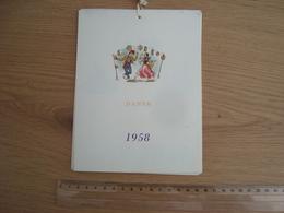 CALENDRIER ITALIEN 1958 DANZE DANSE - Calendarios