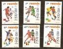 Rwanda Ruanda 1986 Yvert 1211-1216 OBCn° 1275-80 *** MNH  Cote 20 Euro Sport Football - Ruanda