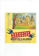 Buvard Biscottes Gregoire  Chateau De Saumur - Zwieback