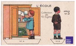 Jolie Chromo Image à Découper Chocolat Révillon Série L' école écolier élève Classe - School A36-21 - Revillon