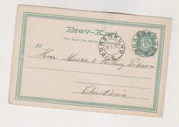 NORWAY 1884 PORSGRUND Postal Stationery - Briefe U. Dokumente