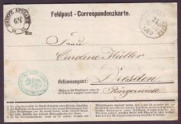"AISNE - CK De Condé Sur Suippes, Tàd ""FELD-POST-EXPED / 24 Inf Div"" (12-9-1870) En FM + ""Commando D 1  BTLNS DKS 5 INFT - War 1870"