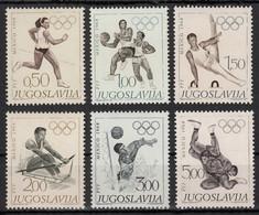 Yugoslavia 1968 Summer Olympic Games Mexico Athletics Basketball Gymnastic Rowing Water Polo Wrestling, Set MNH - 1945-1992 Sozialistische Föderative Republik Jugoslawien