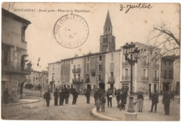 CPA 34 - MONTAGNAC (Hérault) - Rond Point. Place De La République - Ed. Fichet - Montagnac