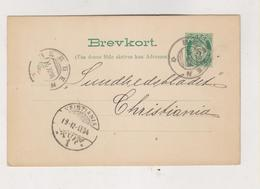 NORWAY 1894 BERGEN Postal Stationery - Briefe U. Dokumente