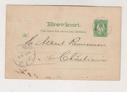 NORWAY 1894  Postal Stationery - Briefe U. Dokumente