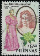 Philippines 1988 Oblitéré Used Première Dame Aurora Aragon Quezon SU - Filipinas