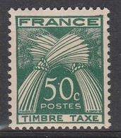 TAXES 80** - 50c VERT- GERBES - TIMBRE TAXE - 1859-1955 Nuovi