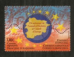 FRANCIA-ESPAÑA-ANDORRA. Consejo Europeo. ,  Un Nuevo Sello ** 2019 - Unused Stamps