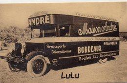 DEPT 33 : Maison André Transports Internationaux Bordeaux , Puissance Rapidité Confort Tous Déménagements - Bordeaux