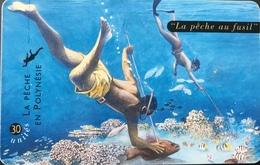 POLYNESIE FRANCAISE  -  PhoneCard  -  La Pêche Au Fusil  -  30 Unités  -  PF 76 - Frans-Polynesië