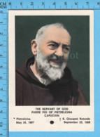 Image Pieuse - Relique 3eme Catégorie - Stigmate De Jesus Saint Pio De Pietrelcina Capucin +  Priere - Religion & Esotericism