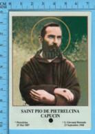 Image Pieuse - Relique 3eme Catégorie -Stigmate De Jesus Saint Pio De Pietrelcina Capucin +  Priere Valentino Vailati - Religion & Esotericism
