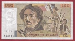 """100 Francs """"Delacroix"""" --1980-----SUP---ALPH.P.26 - 100 F 1978-1995 ''Delacroix''"""
