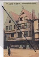 Reims (51) Maison Du 13e Siècle,place Des Marchés.Hôtel-Restaurant Recommandé G.Bernard ,propriétaire-(carte Toilée) - Reims