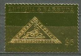Antigua Barbuda Gold Stamp Unissued Made For Whoever Postfrisch/MNH - Cape Triangle Anniversary - Antigua Und Barbuda (1981-...)