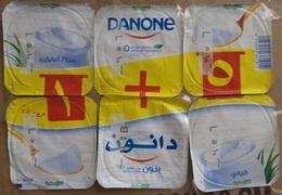 Egypt - Couvercle De Yoghurt  Danone Set Of 6 (foil) (Egypte) (Egitto) (Ägypten) (Egipto) (Egypten) Africa - Milk Tops (Milk Lids)