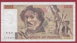 """100 Francs """"Delacroix"""" --1993-----TTB+---ALPH.E.216----AUCUN TROU D EPINGLE - 100 F 1978-1995 ''Delacroix''"""