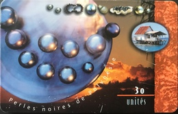 POLYNESIE FRANCAISE  -  PhoneCard  -  Perles Noires  -  30 Unité  -  PF 77 - French Polynesia