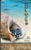 POLYNESIE FRANCAISE  -  PhoneCard  -  Perles Noires/Lagon  -  30 Unité  -  PF 78 - French Polynesia