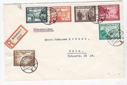 Drittes Reich R-Brief Mit WHW-Frankatur+AKs - Duitsland