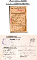 5X Kriegsgefangenenpost Prisonnier Guerre 1939/45 Stalag IV A HOHENSTEIN Censures + Reçu De Colis , 2 Scans PRIX FIXE !! - Documents